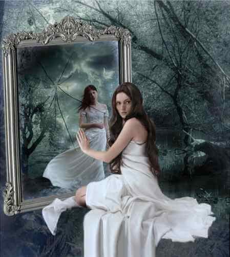 legamento d'amore con lo specchio